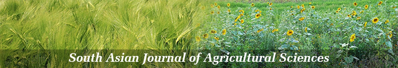 South Asian Journal of Agricultural Sciences